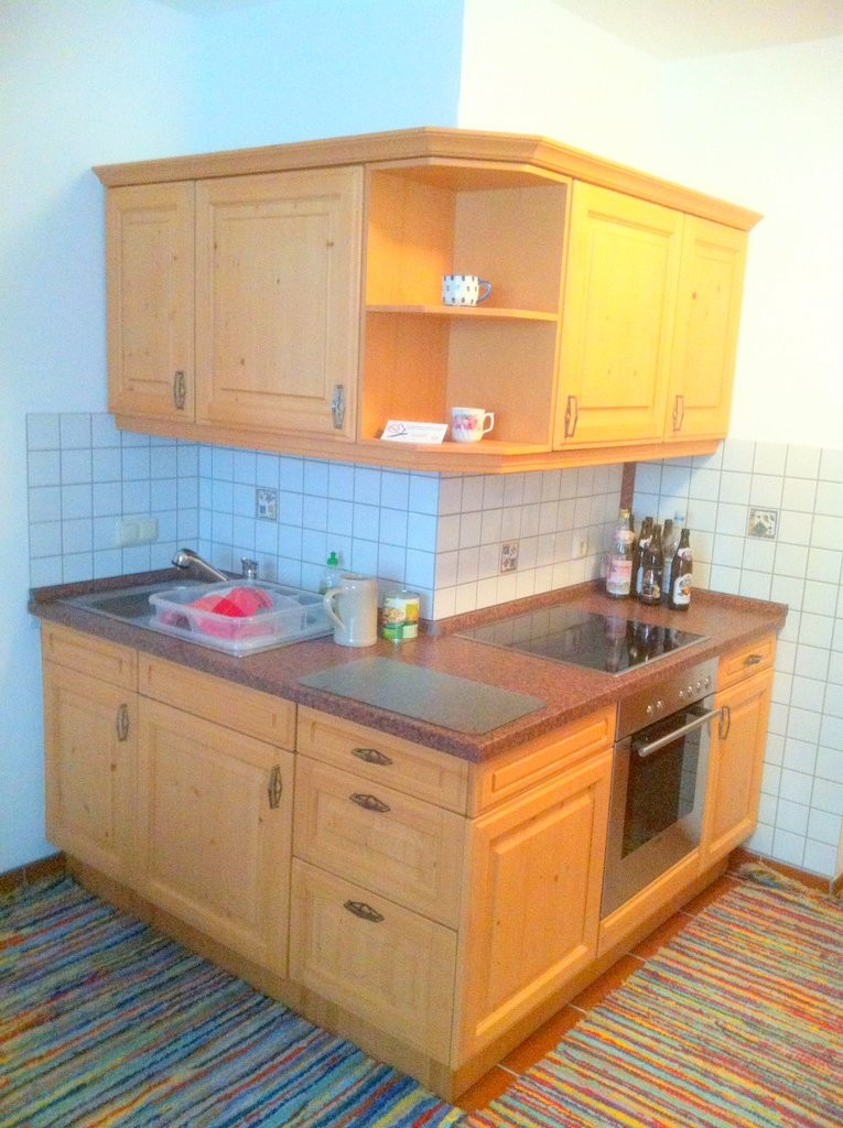 Einbauküche in Ferienwohnung auf kleinsten Raum